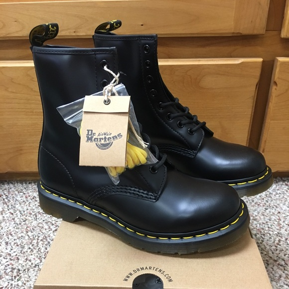 288e9a651c8 Dr. Martens Shoes | Dr Martens Womens 1460 W 8eye Boot Black Smooth ...